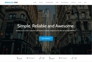 Parallax One - Free WordPress Theme